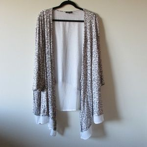 Lane Bryant Overpiece Drape Open Cardigan 26/28